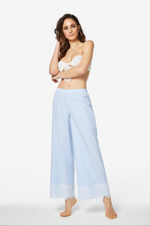 Pantalone in cotone e pizzo Lela