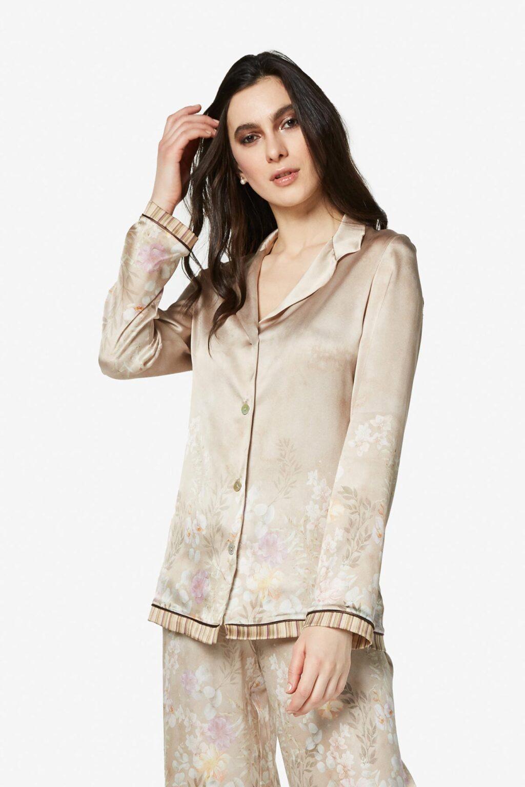 Silk satin shirt Christina