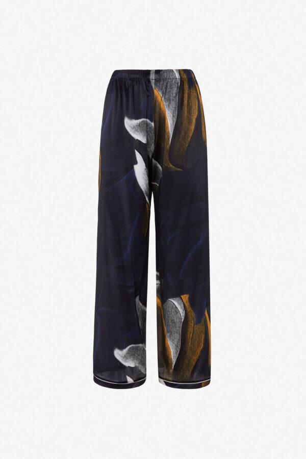 Pantalone in raso di seta Ronnie